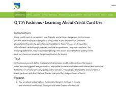 Q T Pi Fashions - Learning About Credit Card Use Lesson Plan