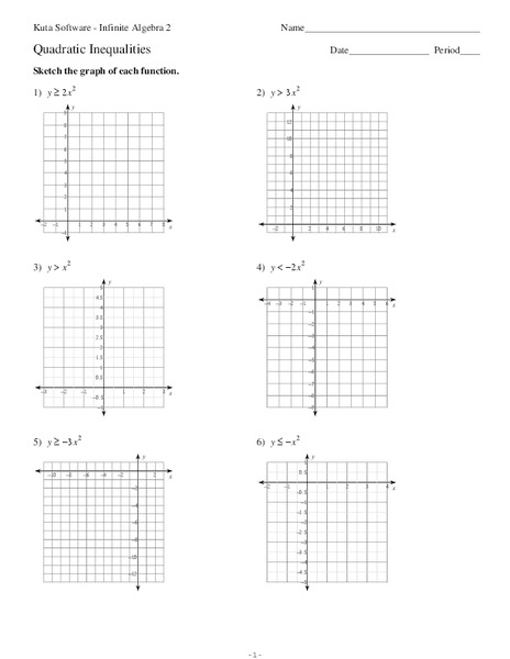Graphing Quadratic Inequalities Lesson Plans Worksheets Lesson