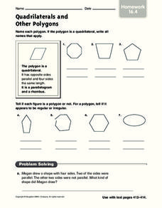 Quadrilaterals and Other Polygons Worksheet