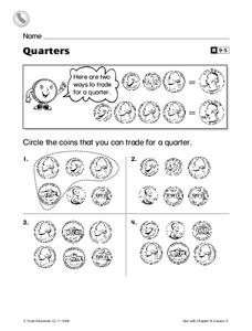 Quarters Worksheet