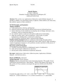 Quartic Regions Lesson Plan