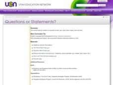 Questions or Statements? Lesson Plan