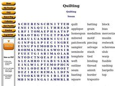 Quilting Worksheet