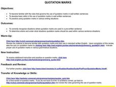 QUOTATION MARKS Lesson Plan