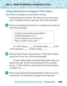 Quotations Worksheet