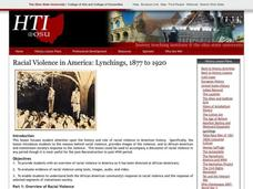 Racial Violence in America: Lynchings, 1877 to 1920 Lesson Plan