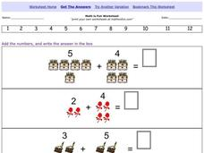 Adding Numbers Together Worksheet