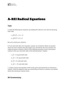 Radical Equations Activities & Project