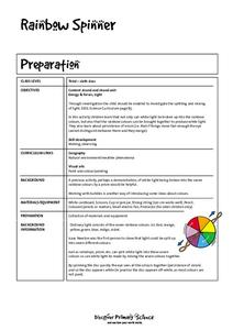 Rainbow Spinner Worksheet