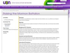 Raising the Mormon Battalion Lesson Plan