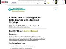 Rainforests of Madagascar: Role Playing and Decision Making Lesson Plan
