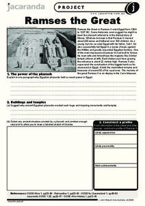 Ramses the Great Worksheet