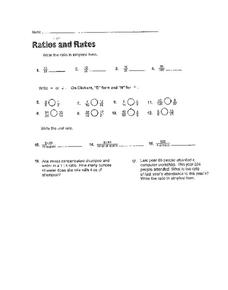 Rates and Ratios Worksheet