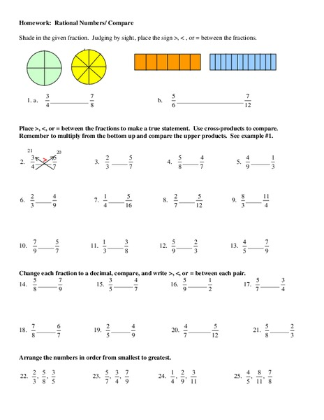 Rational Numbers Worksheet For 6th 7th Grade Lesson Planet