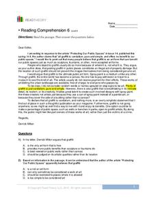 Reading Comprehension 6  Worksheet