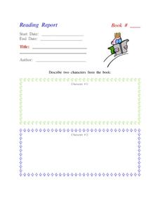 Reading Report Lesson Plan