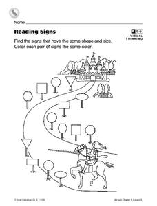 Reading Signs Worksheet