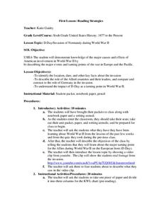 Reading Strategies Lesson Plan
