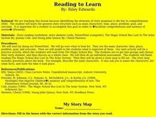 Reading to Learn Lesson Plan