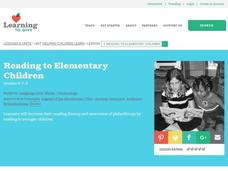Reading to Elementary Children Lesson Plan