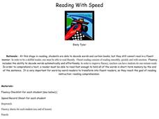 Reading With Speed Lesson Plan