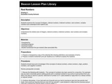 Real Numbers Lesson Plan