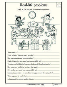 Real-Life Problems Worksheet