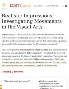 Realistic Impressions: Investigating Movements in the Visual Arts Lesson Plan