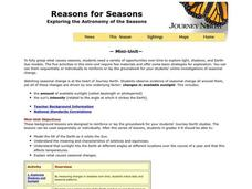 Reasons for Seasons Lesson Plan