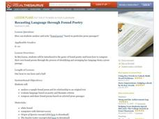 Recasting Language through Found Poetry Lesson Plan