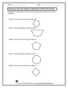 Recognize and Draw Shapes  Worksheet