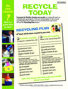 Recycle Today Worksheet