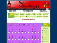 Addition Facts Worksheet