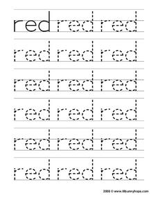 Red Worksheet