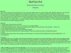 Red Gets Fed Lesson Plan