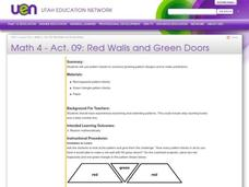Red Walls and Green Doors Lesson Plan