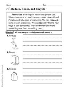 Reduce, Recycle and reuse by joop09 - Teaching Resources - Tes
