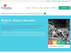 Reduce, Reuse, Recycle Lesson Plan