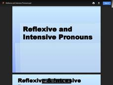 Reflexive and Intensive Pronouns Presentation