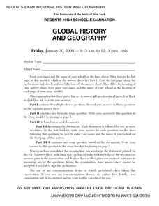Regents high school examination global history and geography regents high school examination global history and geography 2009 lesson plan publicscrutiny Images
