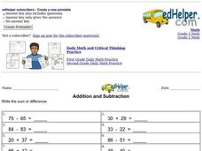 Addition and Subtraction Interactive