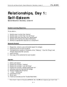 Relationships, Day 1: Self-Esteem Lesson Plan