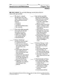 Renaissance and Reformation Lesson Plans & Worksheets ...