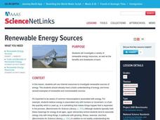Renewable Energy Sources Lesson Plan