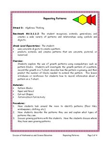 Repeating Patterns Lesson Plan