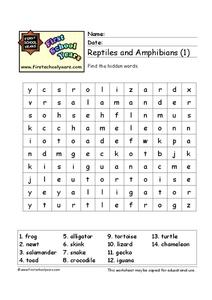 Reptiles and Amphibians (1) Worksheet