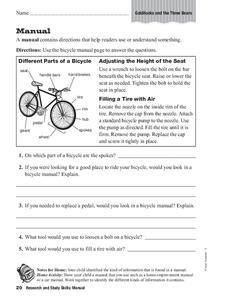 Research and Study Skills: Manual Worksheet