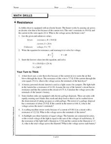 Resistance Worksheet
