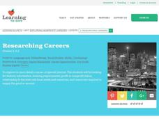 Researching Careers Lesson Plan