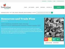 Resources and Trade Flow Lesson Plan